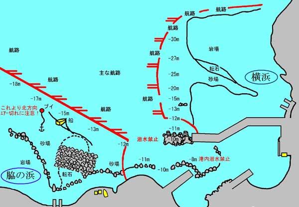 富戸のダイビングマップ